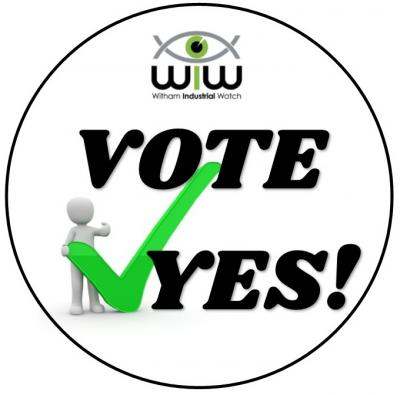 Vote yes sticker